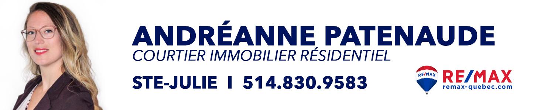 Andréanne Patenaude Remax courtier immobilier