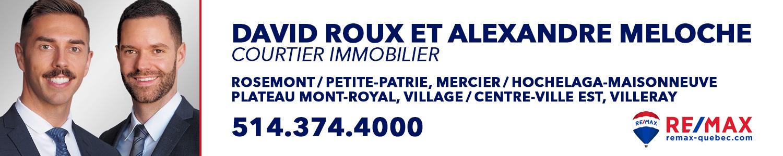 David Roux et Alexandre Meloche, vos courtiers immobilier RE/MAX