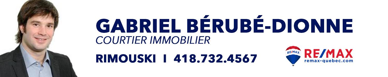 Gabriel Bérubé-Dionne Courtier immobilier Re/MAX Rimouski