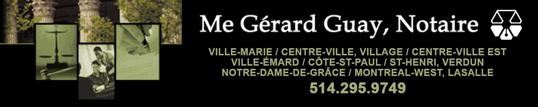 Me Gérard Guay, notaire